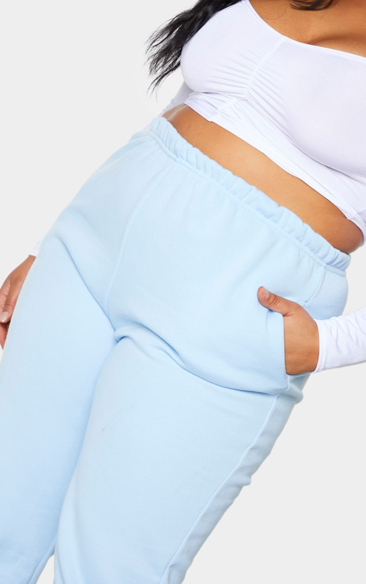 Plus Light Blue Casual Jogger  4