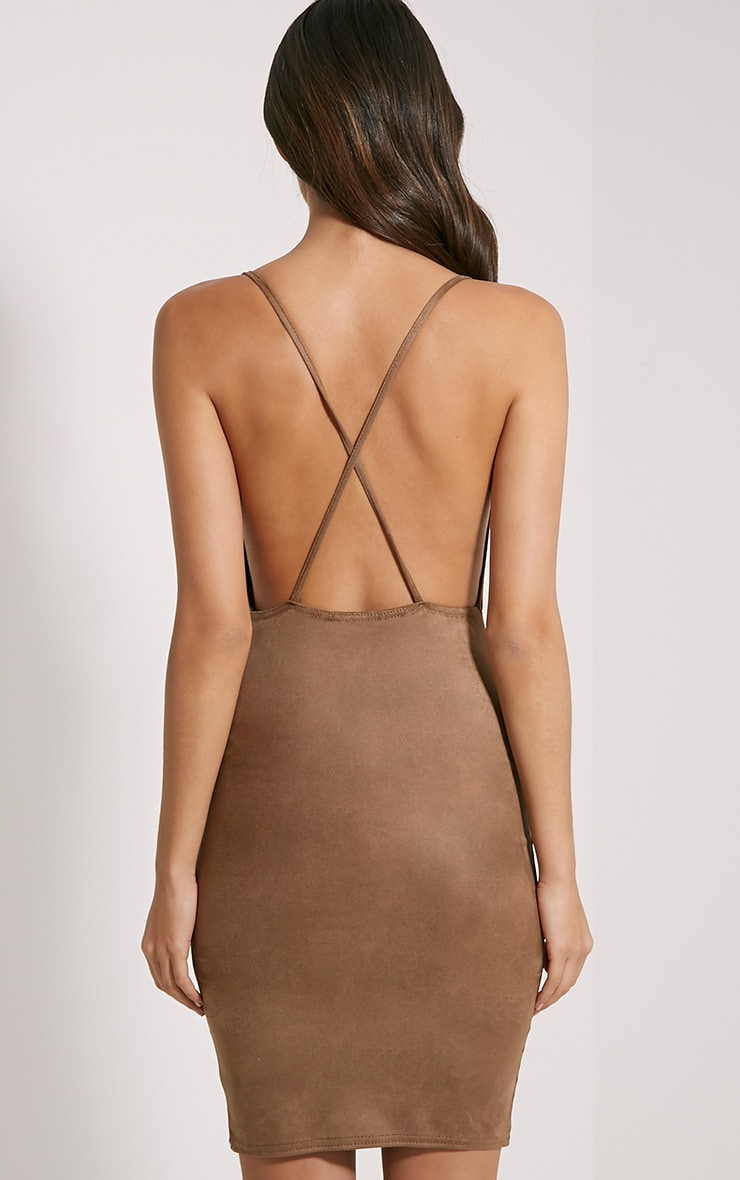 Orion Tan Faux Suede Dress 2