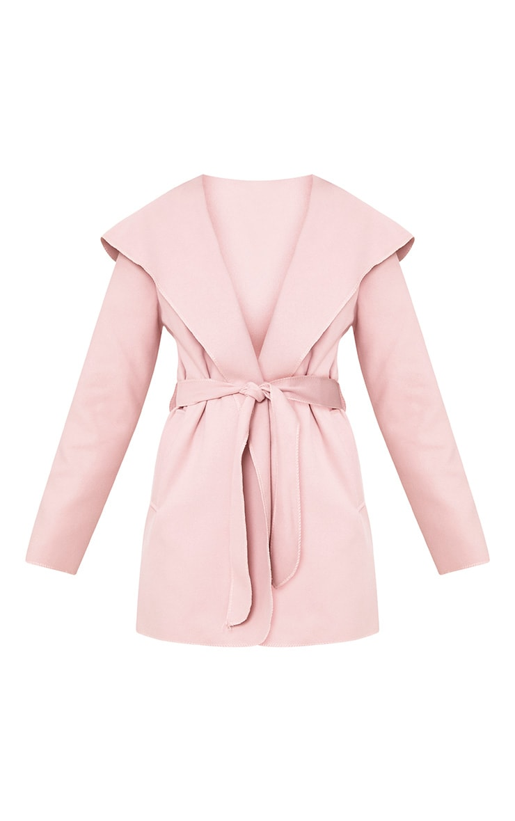 Pink Waterfall Belted Coat 3