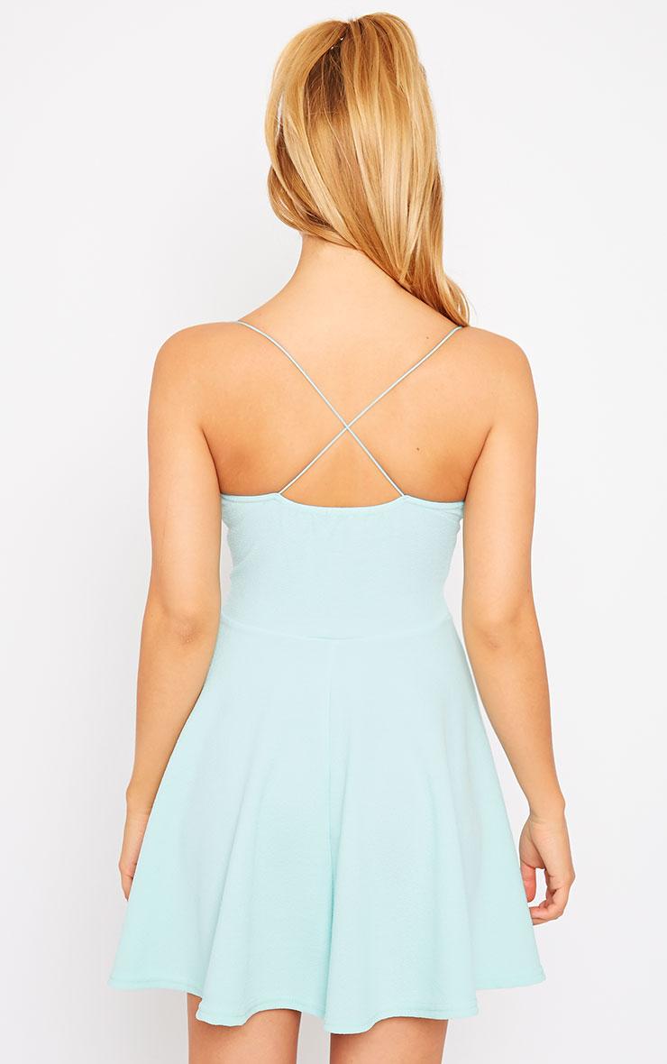Luccie Mint Crepe Skater Dress 2
