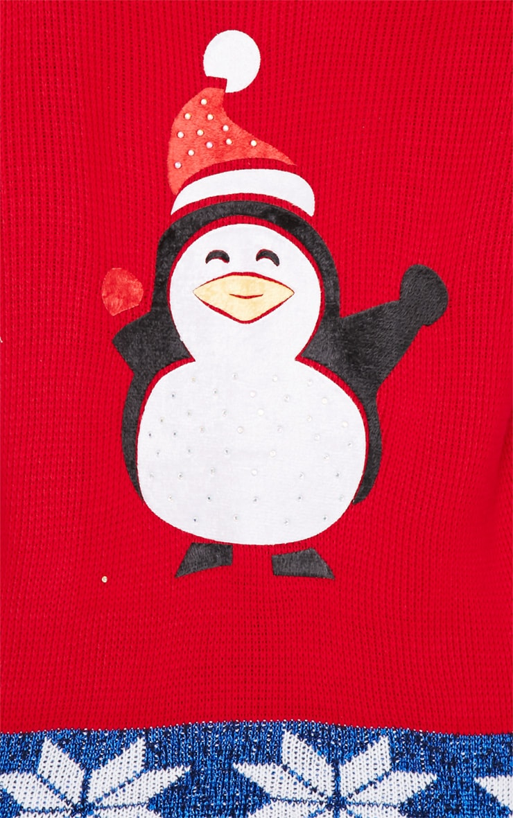 Gabriel Red Penguin Christmas Sweater 5