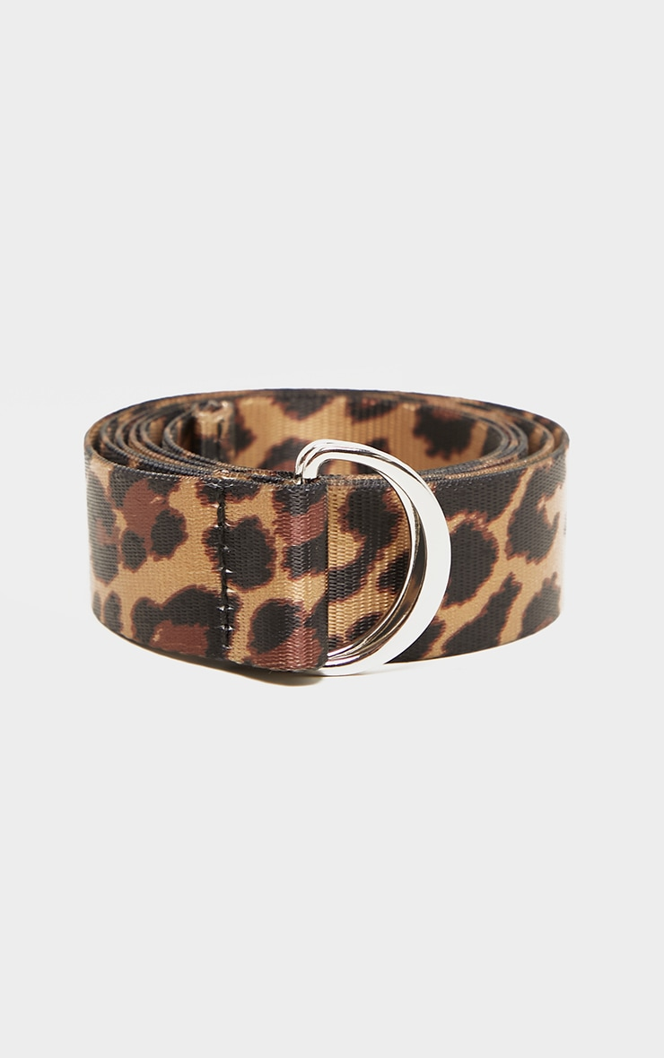 Cream Leopard Tape Belt  2