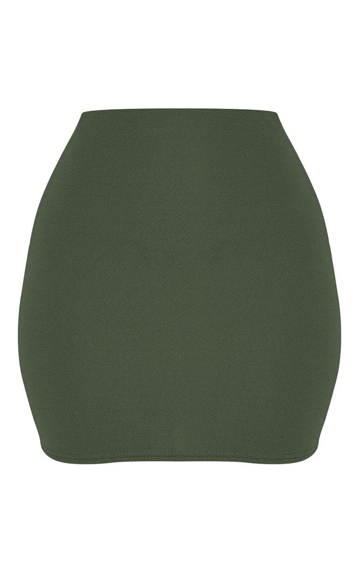 Khaki Mini Suit Skirt 3