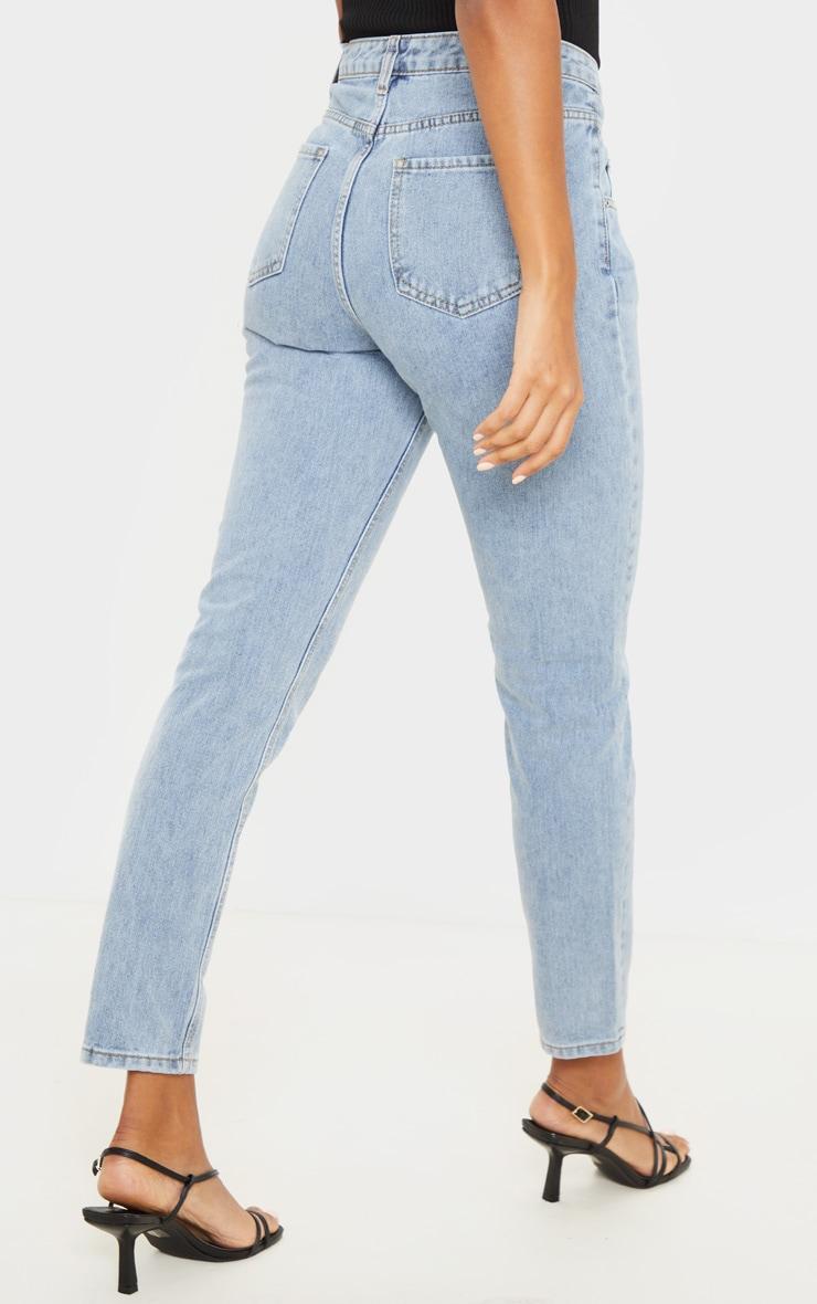 Vintage Wash Seam Front Straight Leg Jeans 4