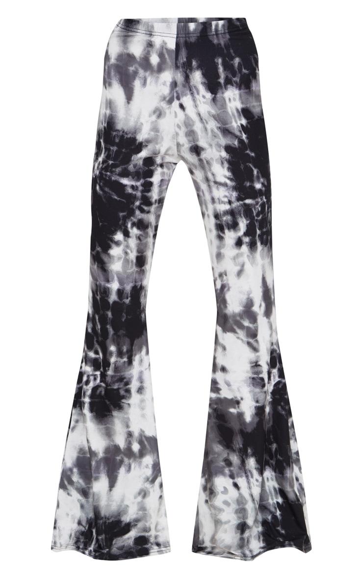 Black Tie Dye Flared Trousers 3