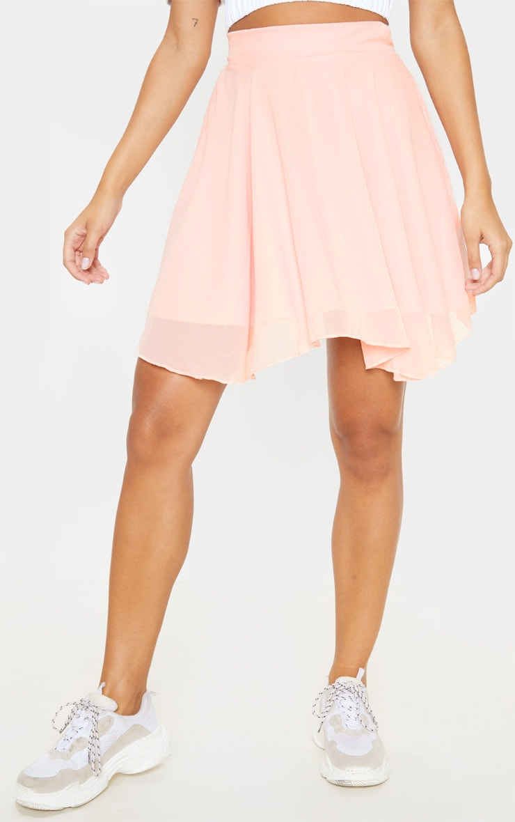 Dusty Pink Lightweight Woven Skater Skirt 2