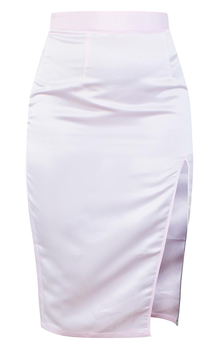 Petite Pink Split Midi Skirt 5