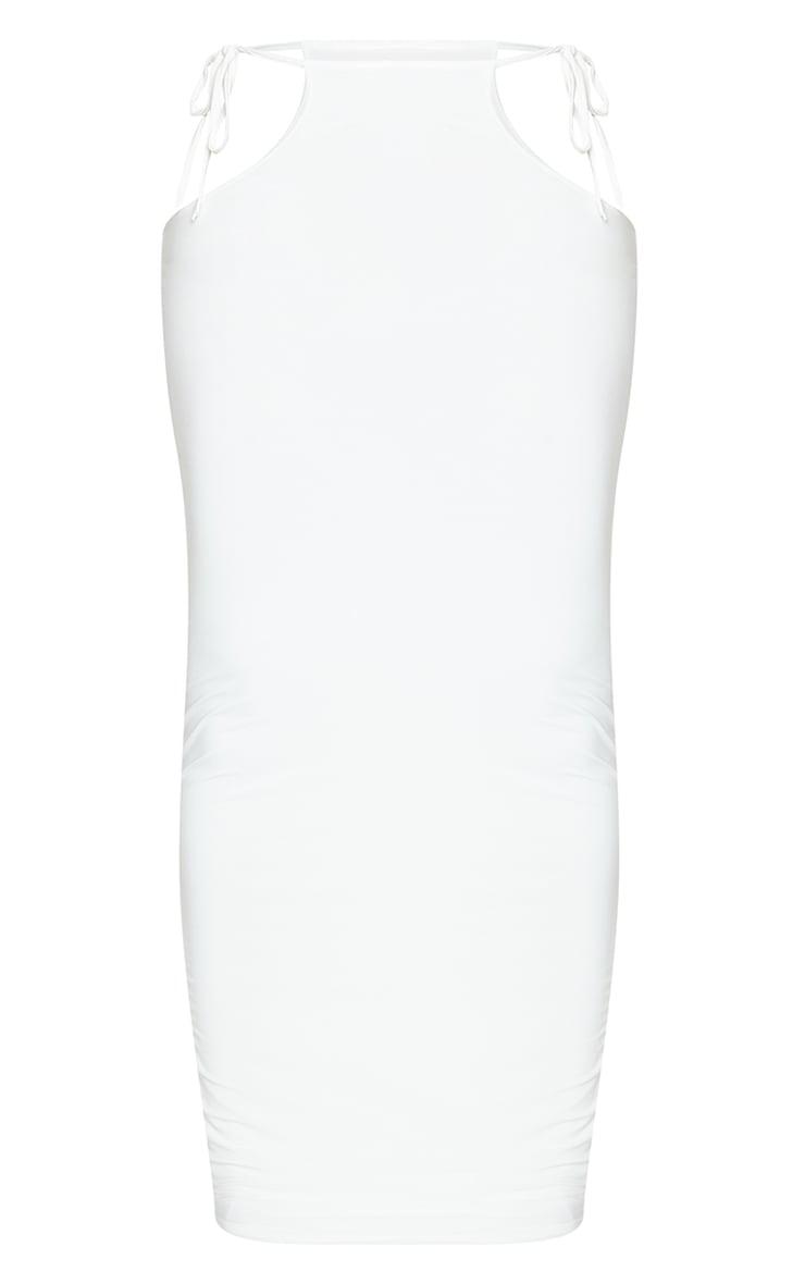 Shape Cream Slinky Tie Side Midaxi Skirt 5