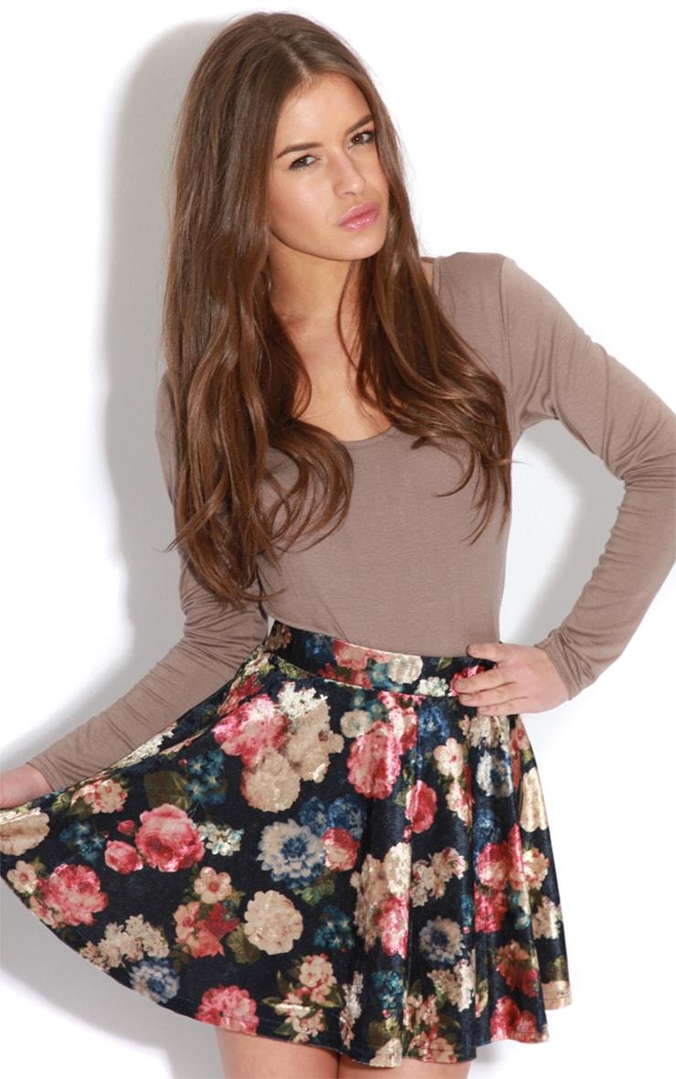 Maryana Mocha Long Sleeve Bodysuit  3