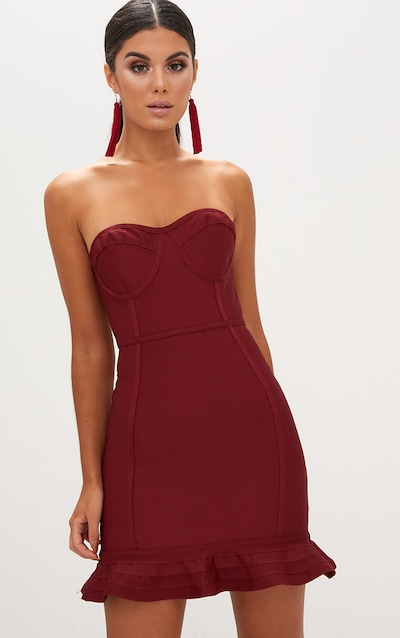 Cocktail Dresses Black Red Amp White Prettylittlething