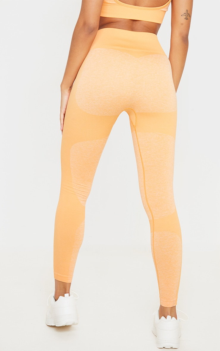 Orange Seamless 2 Tone Contour Legging 4