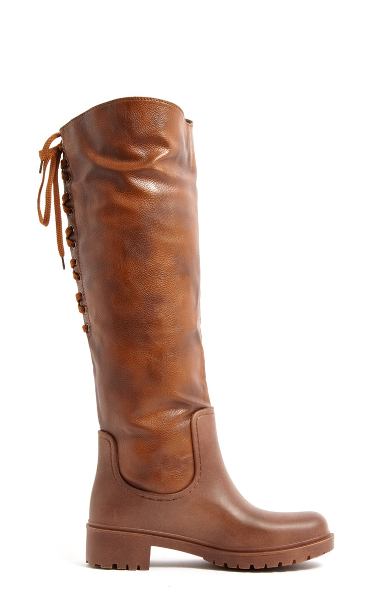 Lilah Knee High Two Tone Boots 2