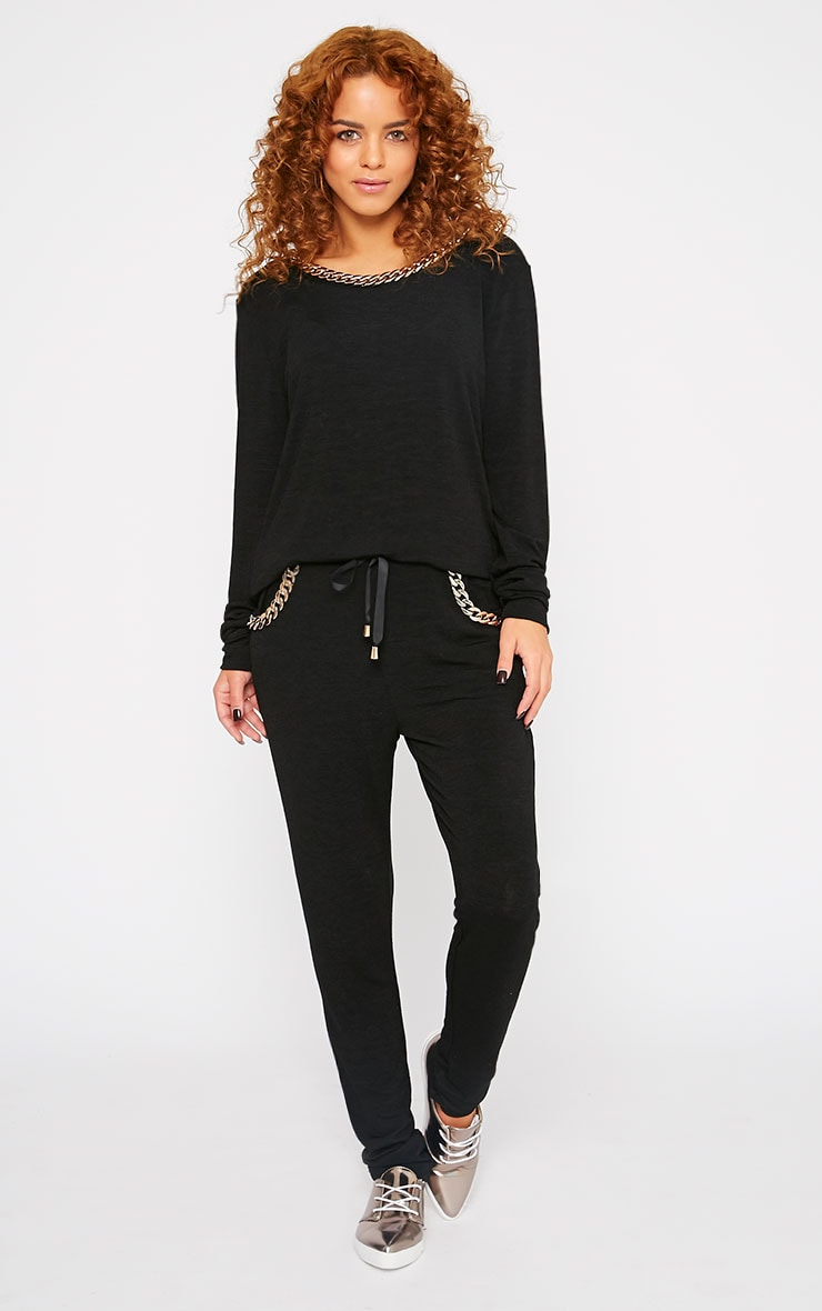 Jovana Black Chain Detail Sweater 3