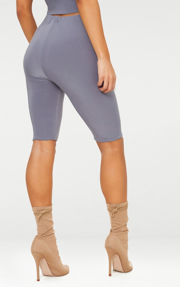 Grey Slinky Longline Bike Short 3
