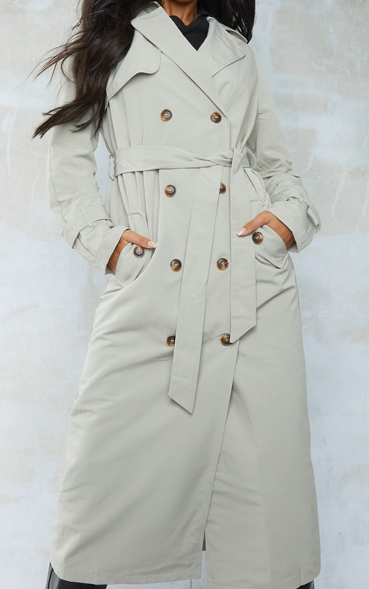 Sage Green Trench Coat 6