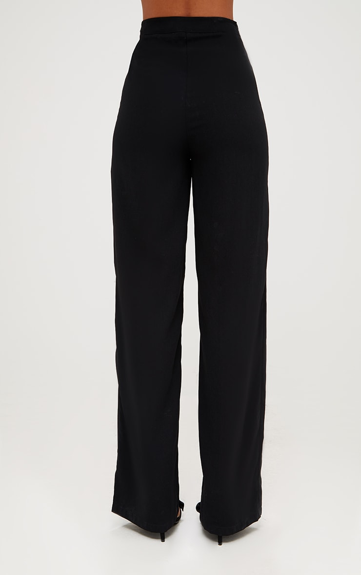 Black Wide Leg High Waisted Trousers 5