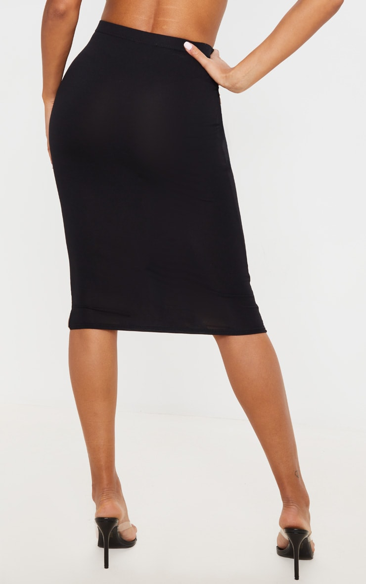 Basic Black Midi Skirt 4