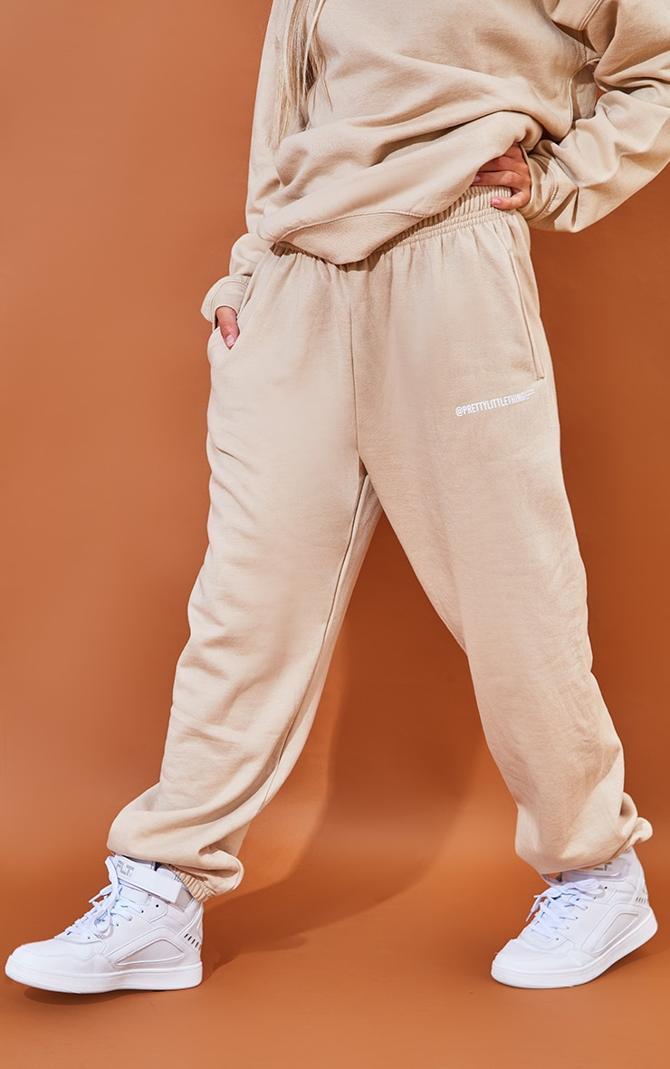 PRETTYLITTLETHING Sand Printed Joggers 2