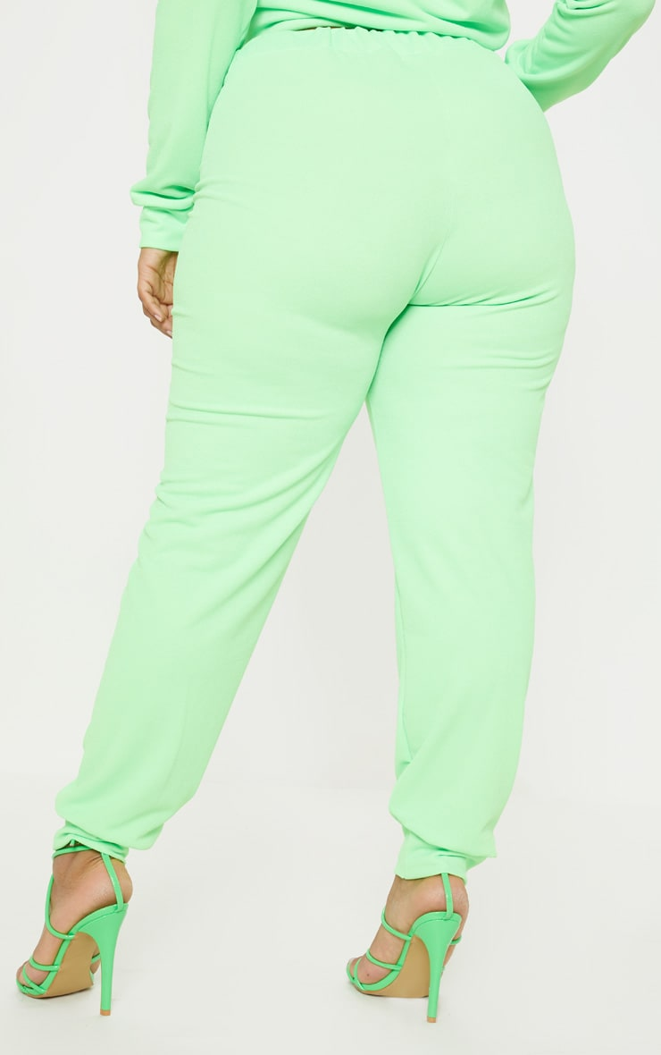 Plus Neon Green Cuff Detail Jogger 4