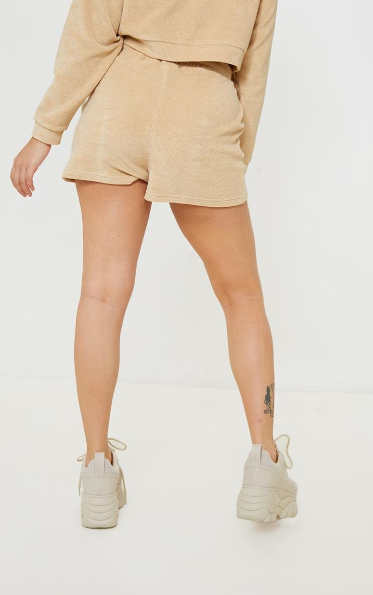 Petite Stone Velour Oakland Shorts 3
