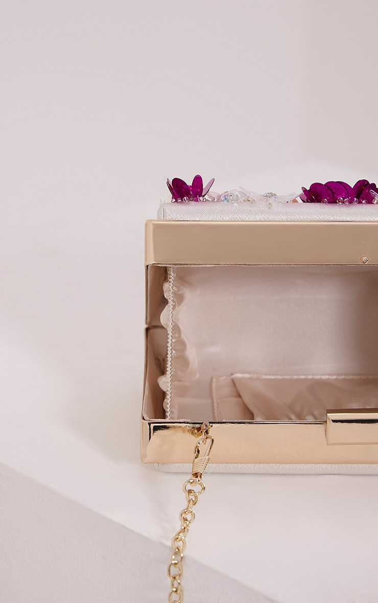 Amay Multi Sequin Flower Box Clutch 4