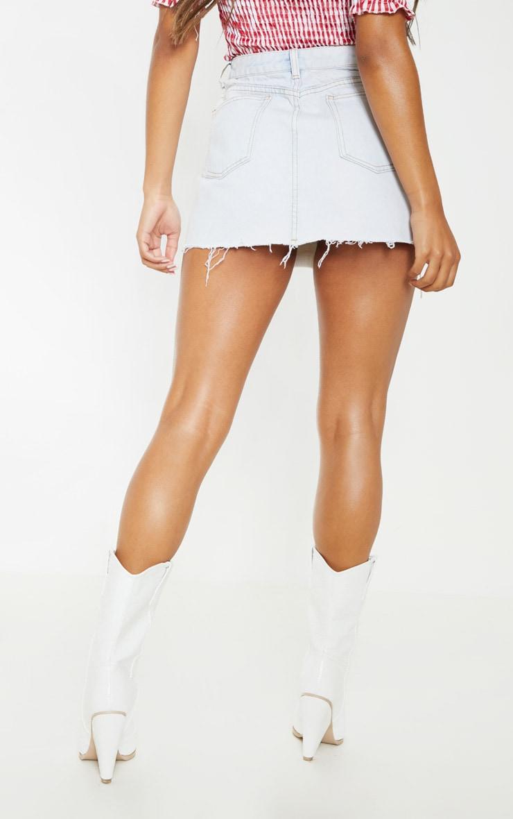 Bleach Denim Mini Skirt 4
