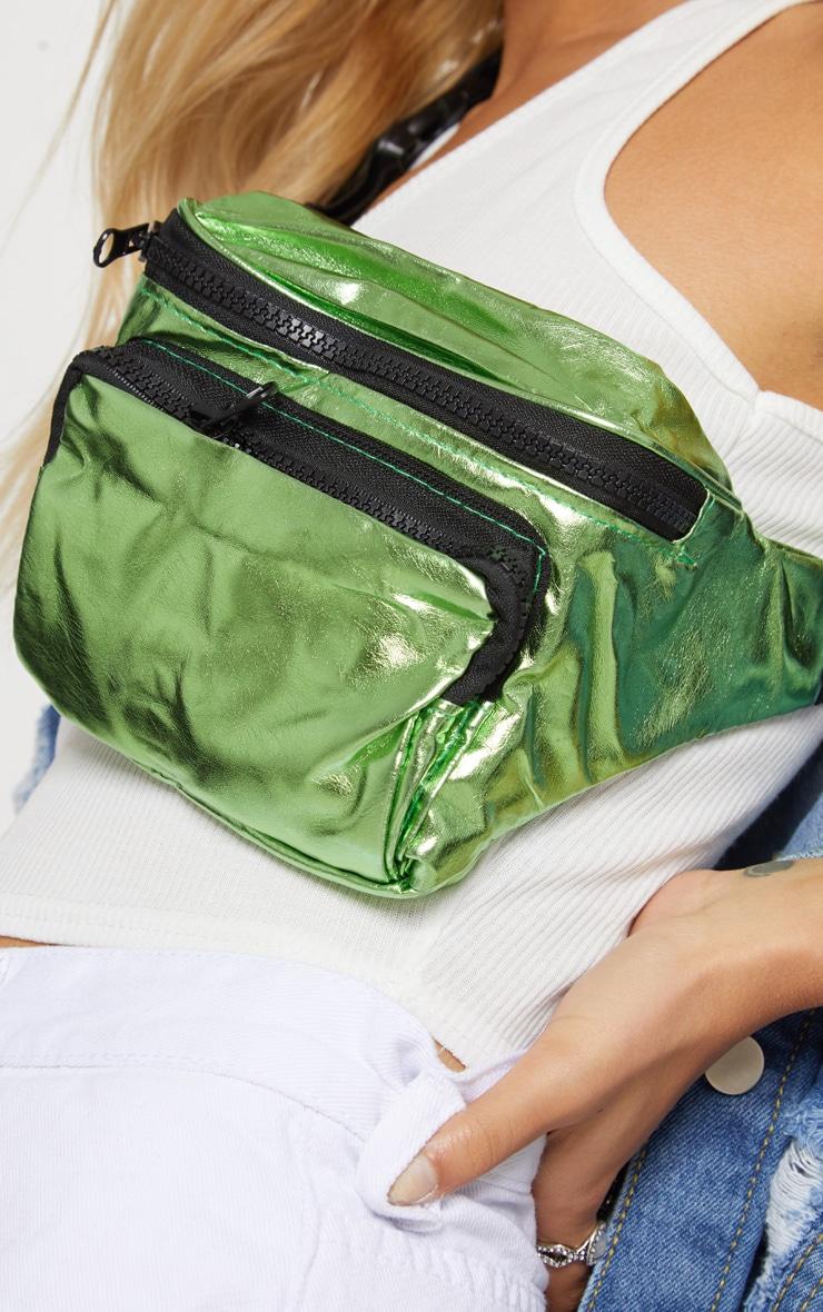 Green Metallic Bum Bag 3