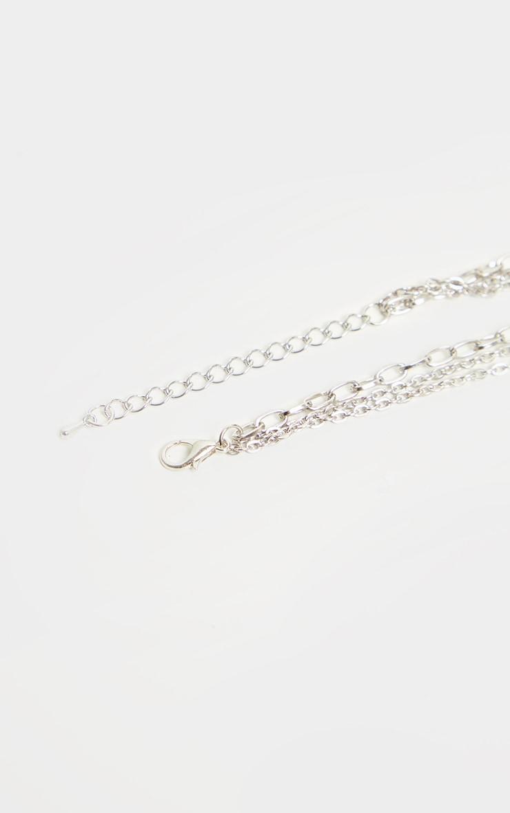 Silver Lock Key Multi Layer Necklace 5