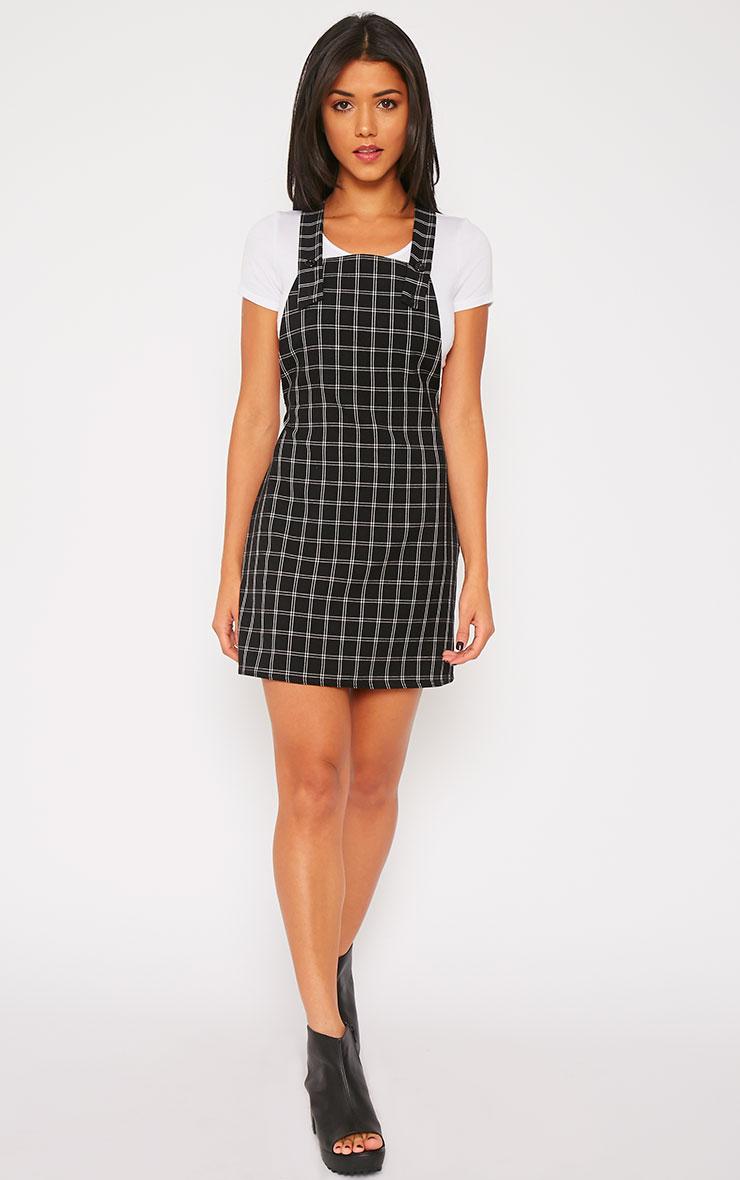 Blair Monochrome Square Print Pinafore Dress 4