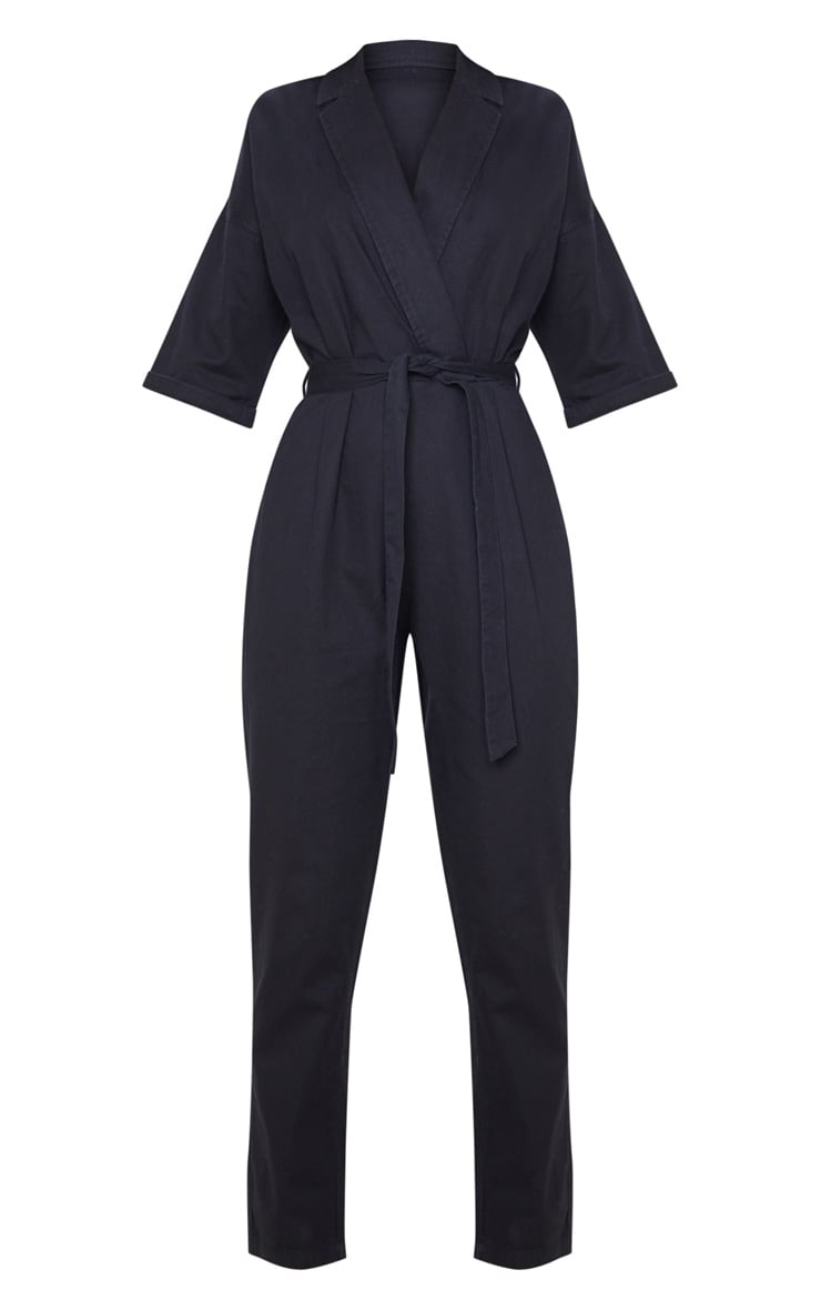 Black Denim Utility Jumpsuit 3