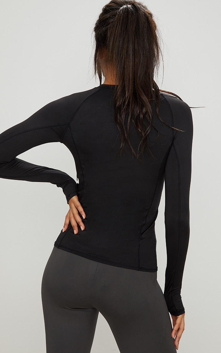 Black Long Sleeve Gym Top 3