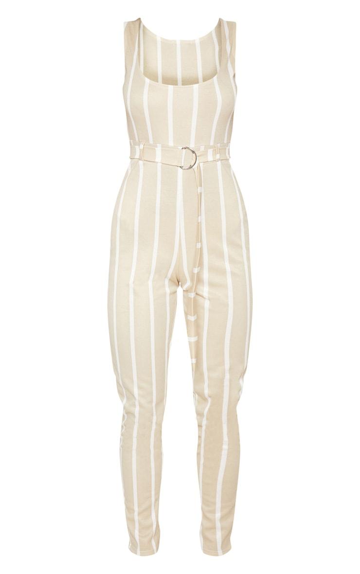 Stone Stripe Belted Jumpsuit 3