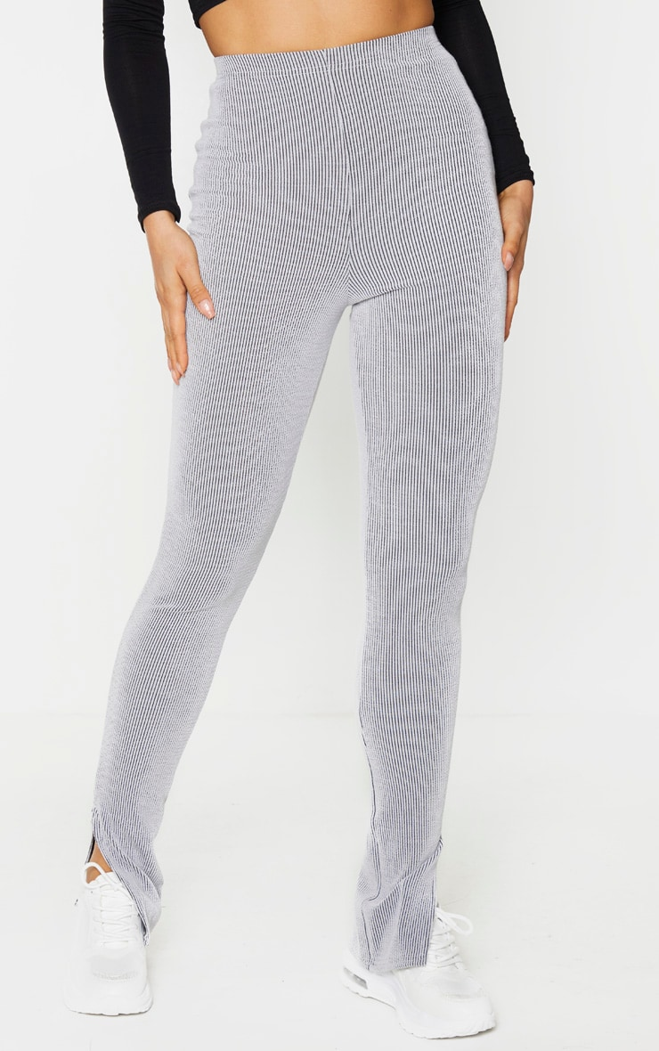 Tall Grey Knitted Split Hem Legging 2