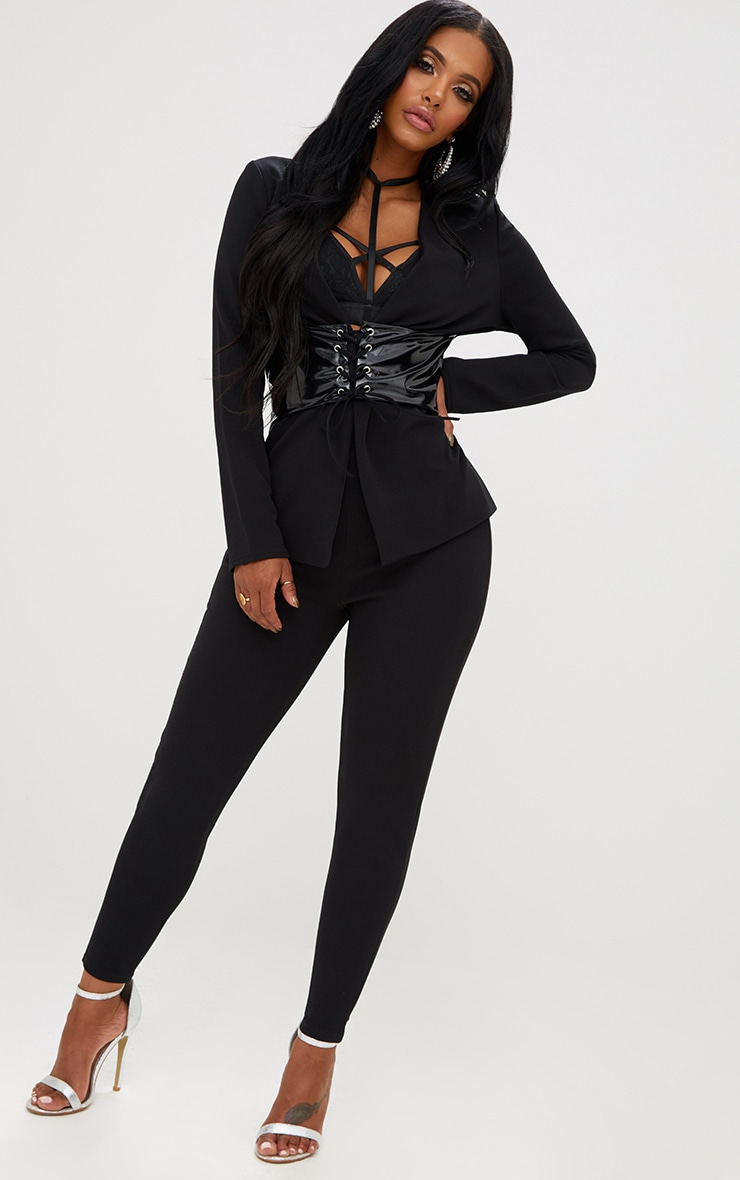Shape Black Fitted Trousers 1