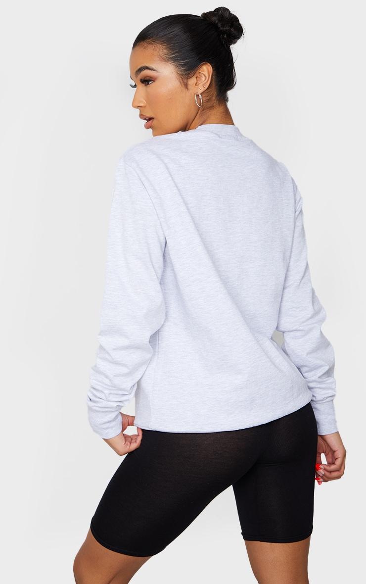 Grey Brooklyn Slogan Sweatshirt 2