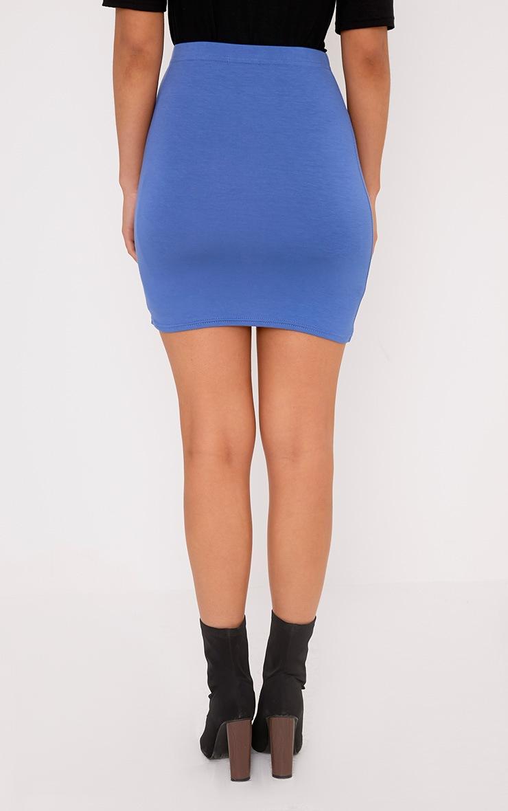 Basic Blue Jersey Mini Skirt 4