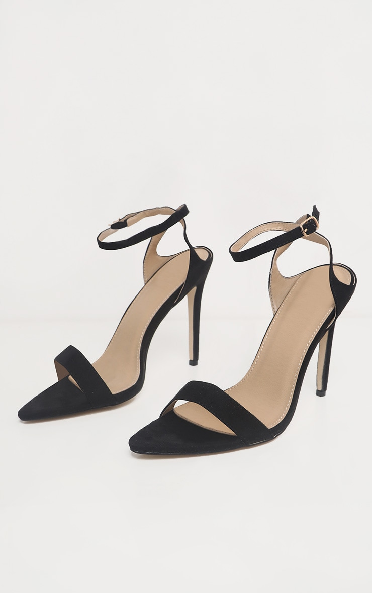 Black Point Toe Ankle Strappy Heel 3