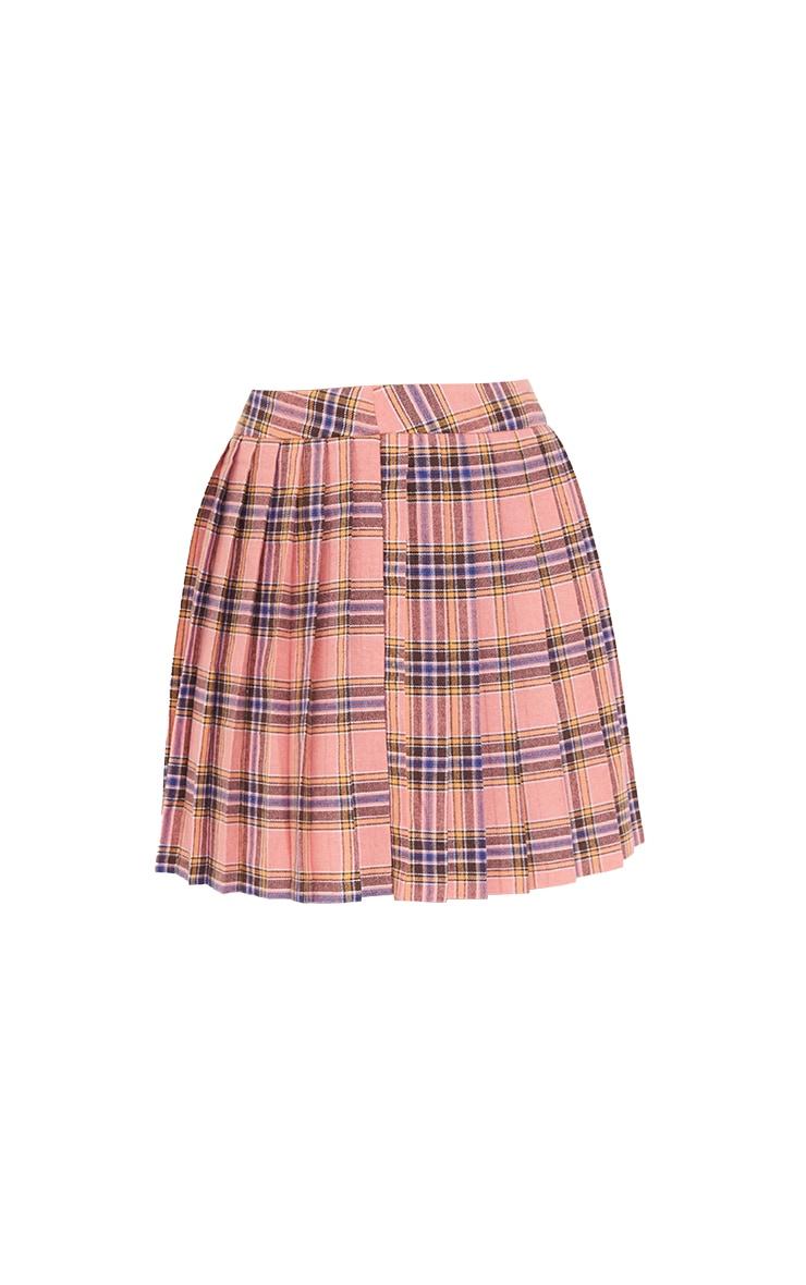 Pink Woven Check Tennis Skirt 6
