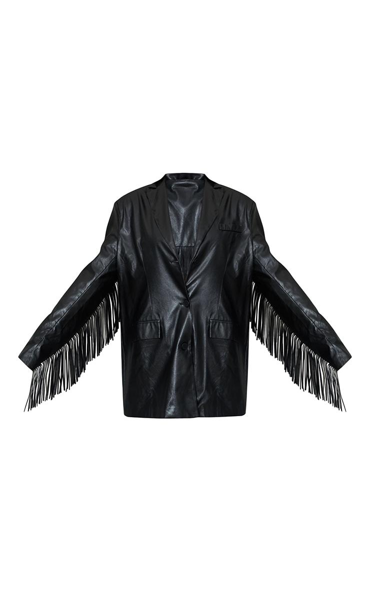 Black Tassle Back Jacket 5
