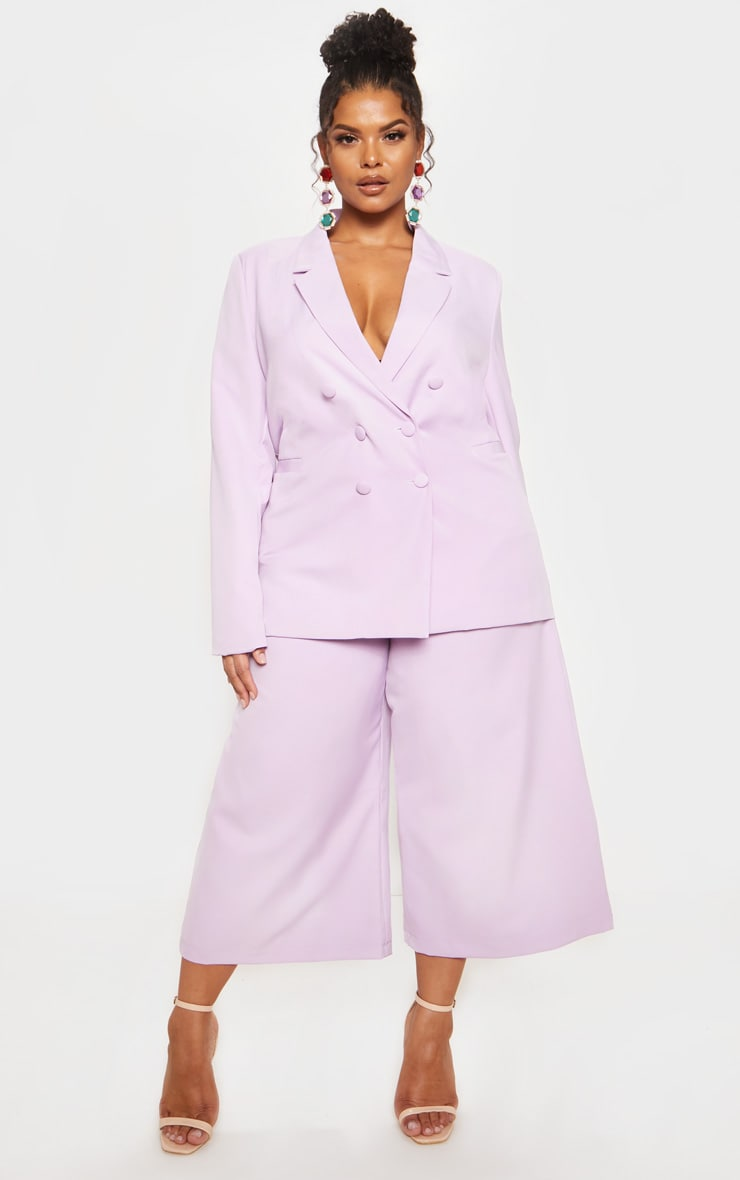 Lilac High Waisted Culottes 2