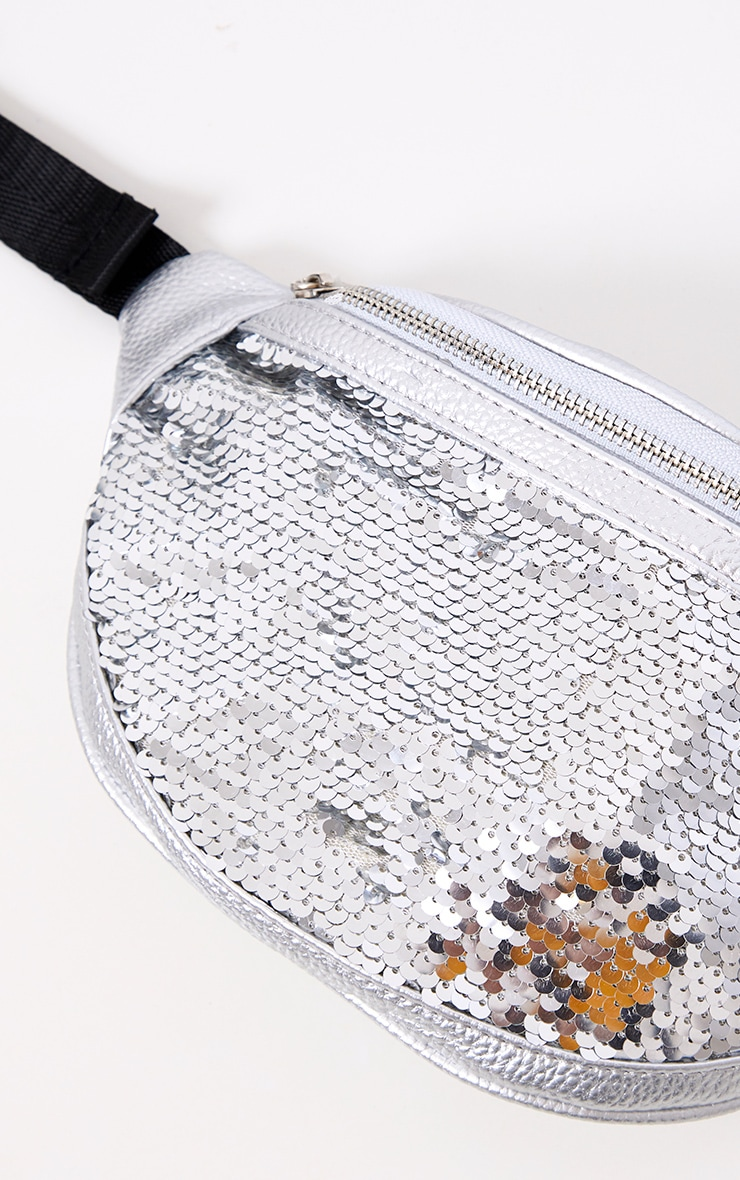 Silver Sequin Bum Bag 4