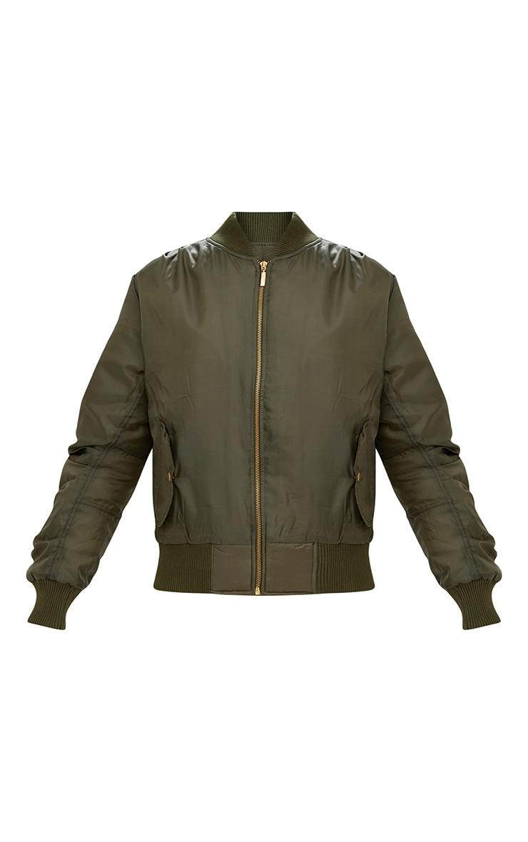 Alexus Khaki Bomber Jacket 4