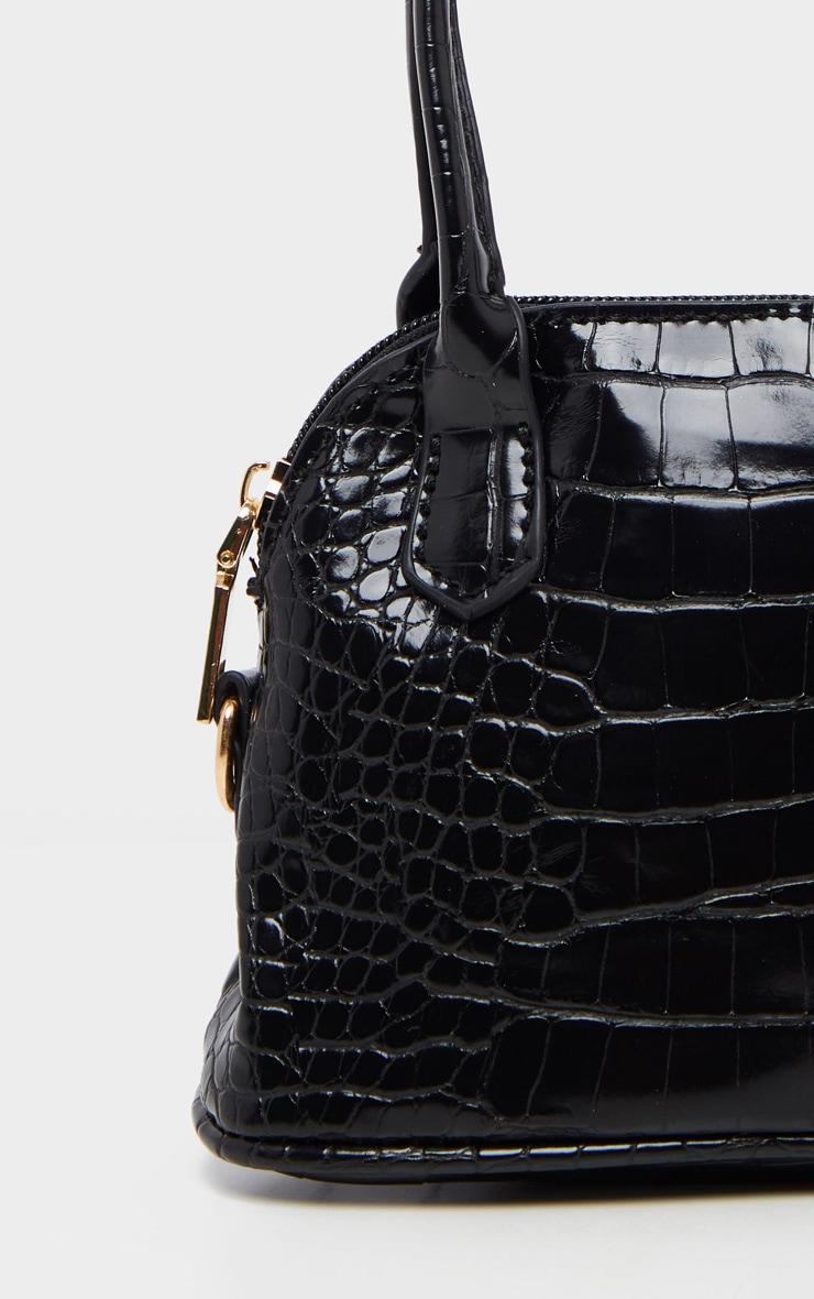 Black Croc Mini Grab Bag 3