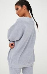 Grey Marl Ultimate Oversized Sweatshirt 2