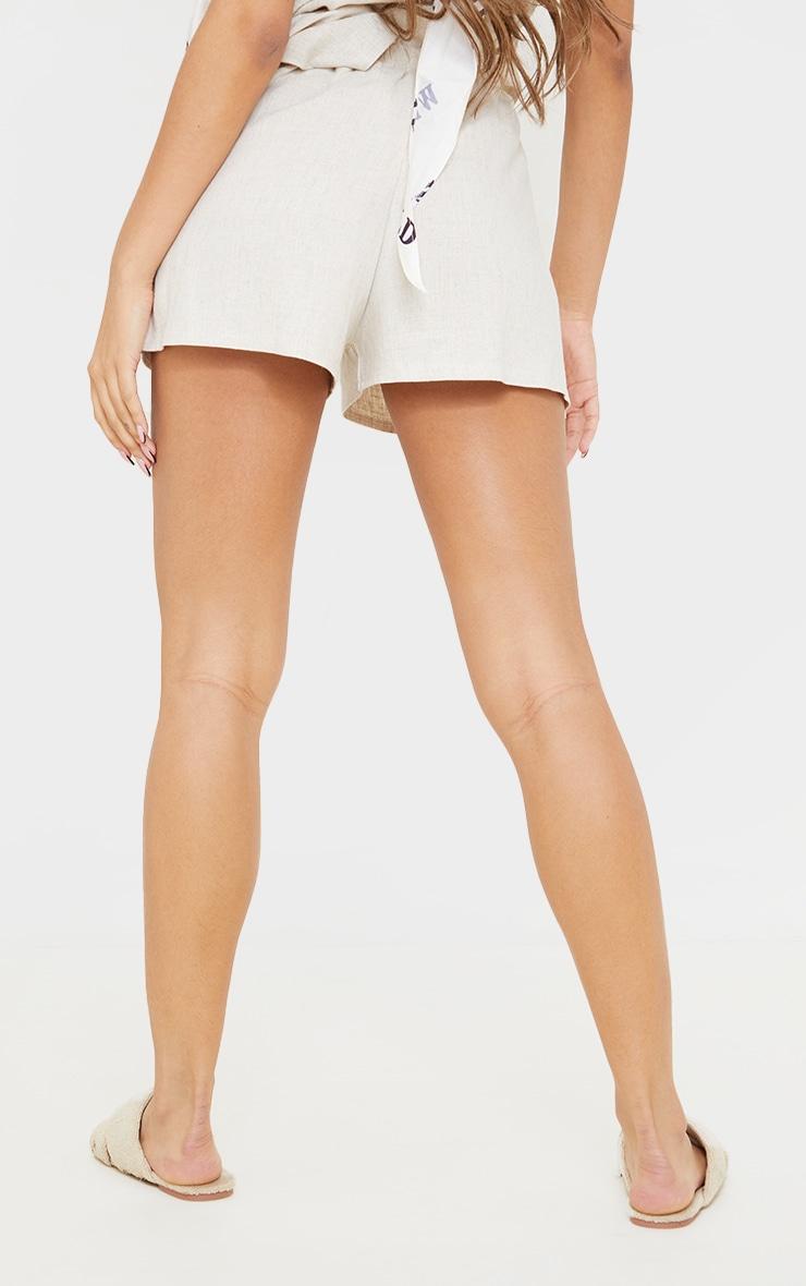 Stone Linen Floaty Shorts 3