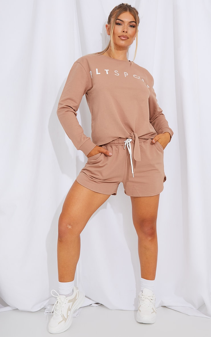 Mocha Sweat Shorts 4
