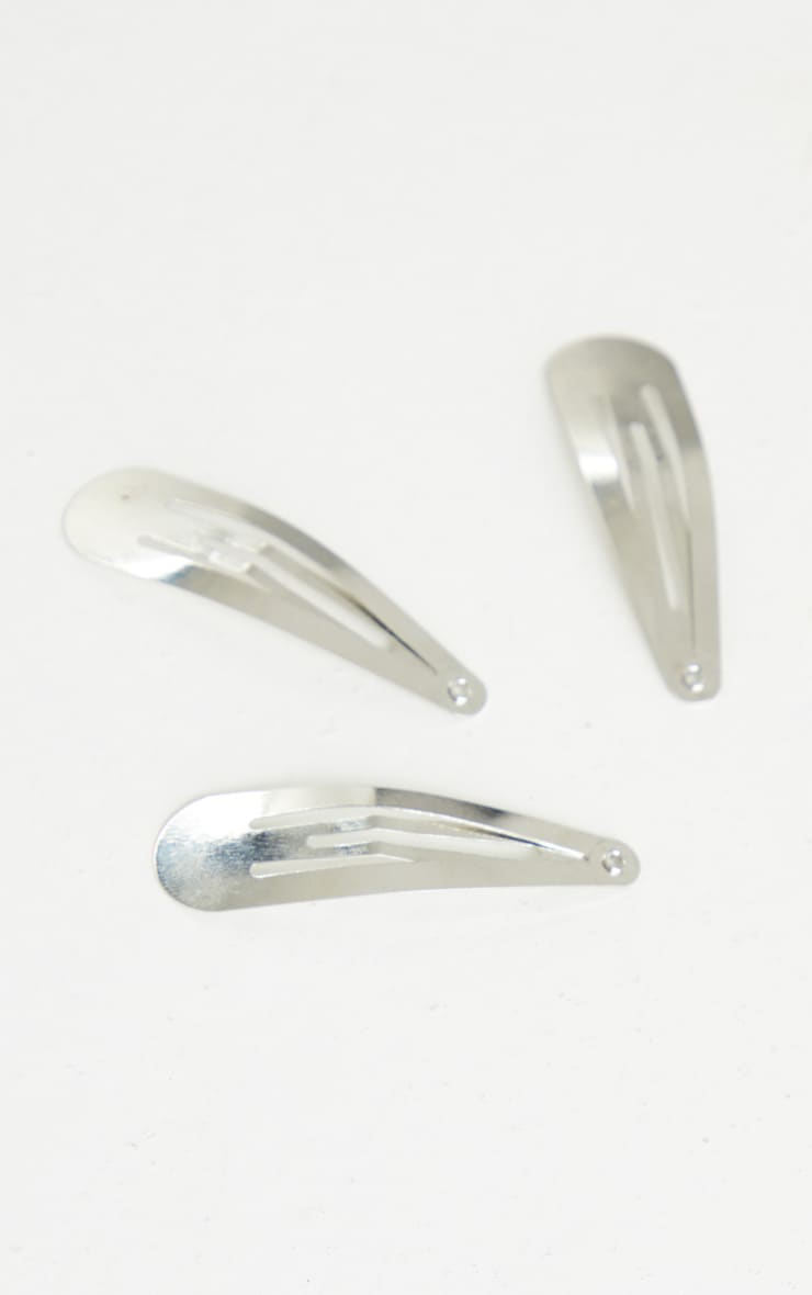 Silver Hair Clips 4