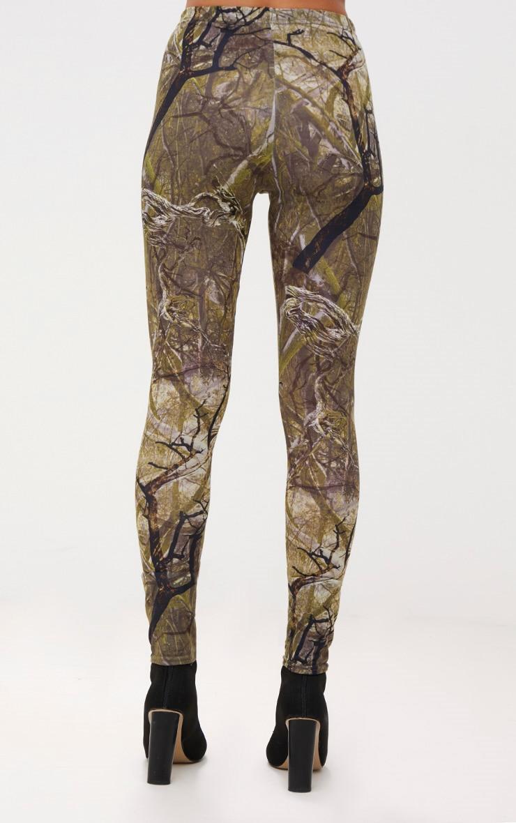 Khaki Forest Print Camo Leggings 4