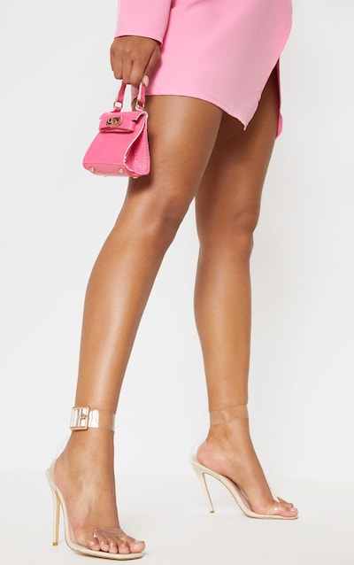 Clear Square Toe Cuff Detail Strappy Sandal
