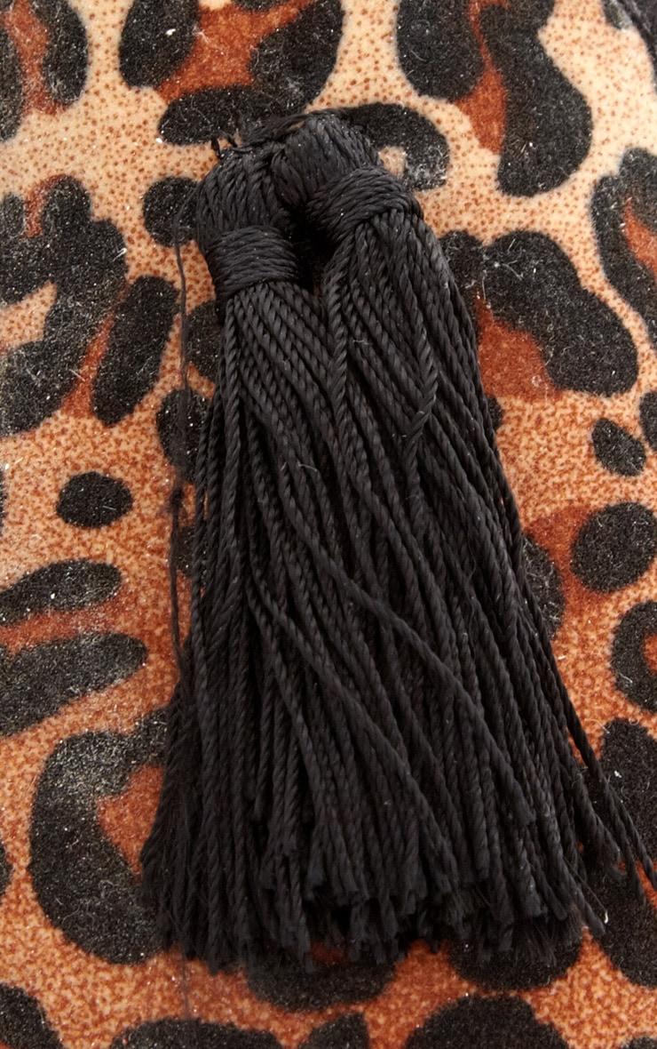 Alys Leopard Tassel Slipper  4